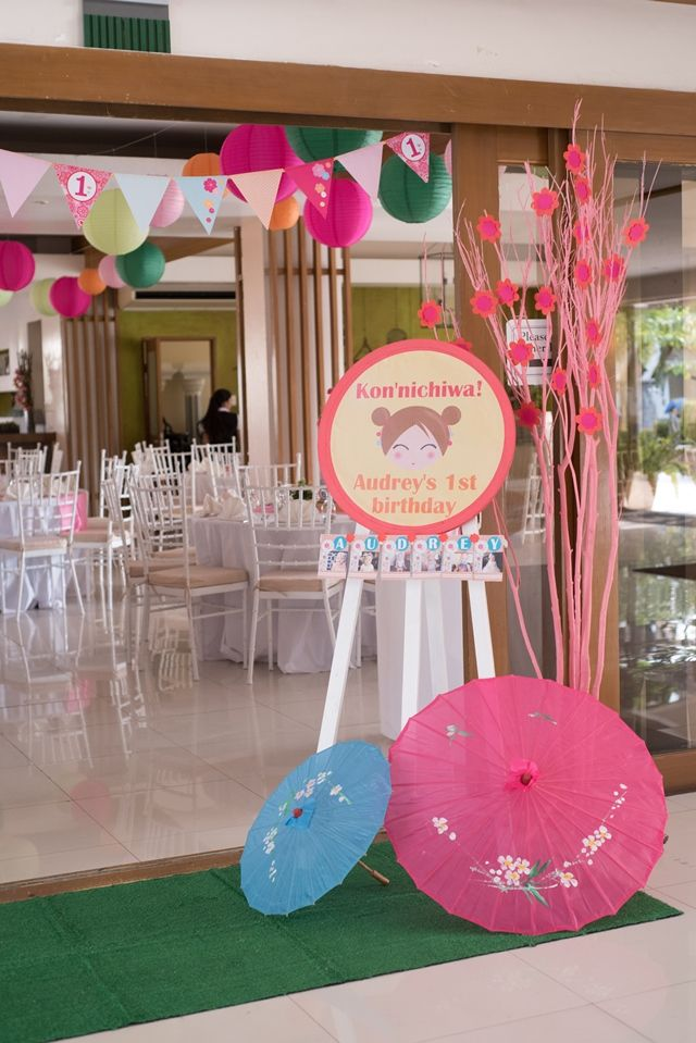 Audrey's Kokeshi Doll Themed Party – Entrance Area