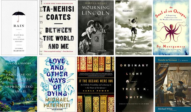 The National Book Award longlists are being announced this week, and today the nonfiction list went up. It includes Ta-Nehisi Coates's celebrated book on black life in America, Between the World an...