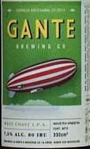 Gante West Coast IPA American IPA7.580 IBU      Gante Brewing Co.  Descripción Comercial:  Gante West Coast IPA