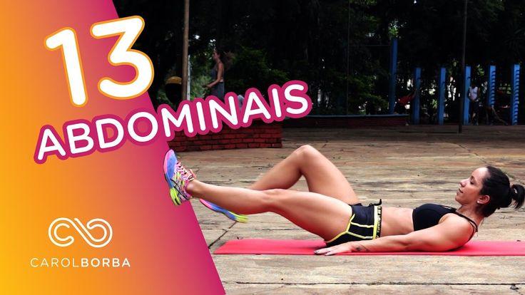 13 melhores exercícios para trincar o abdômen - EM CASA - Carol Borba