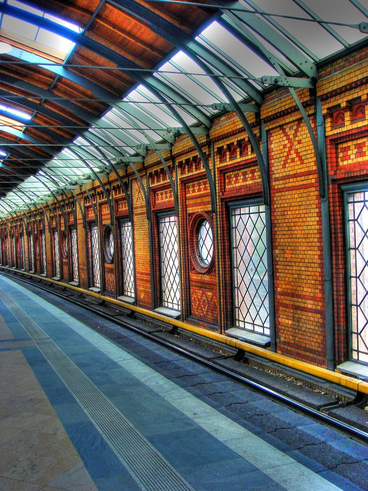 How is that for a subway station? Hackescher Markt Station - HDR Repinned by www.gorara.com