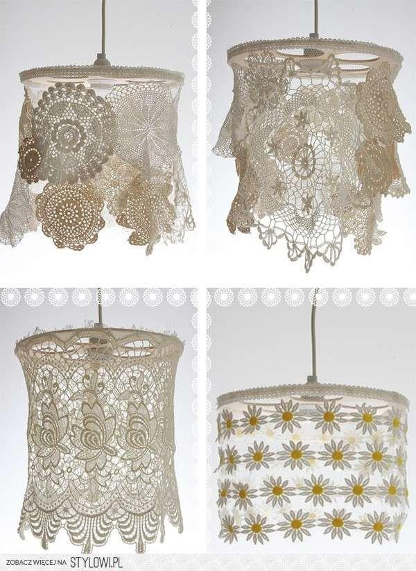 8 best abajur images on Pinterest   Crochet lampshade, Lamp shades ...