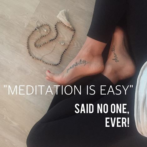 """MEDITATION IS EASY.  Wait for it ... Said NO ONE, ever! The concept may be """"simple"""". The instructions clear & """"doable"""" ...but an actual, regular, consistent, sustainable practice. Now that's a whole 'notha story my friends. HEAD + HEART + HAPPY MEDITATION WORKSHOP PURE YOGA OTTAWA, CT DEC 5 