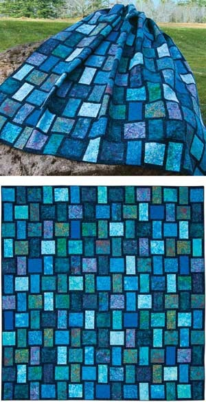 Blue Moon Quilt (basket weave look) - lovely!