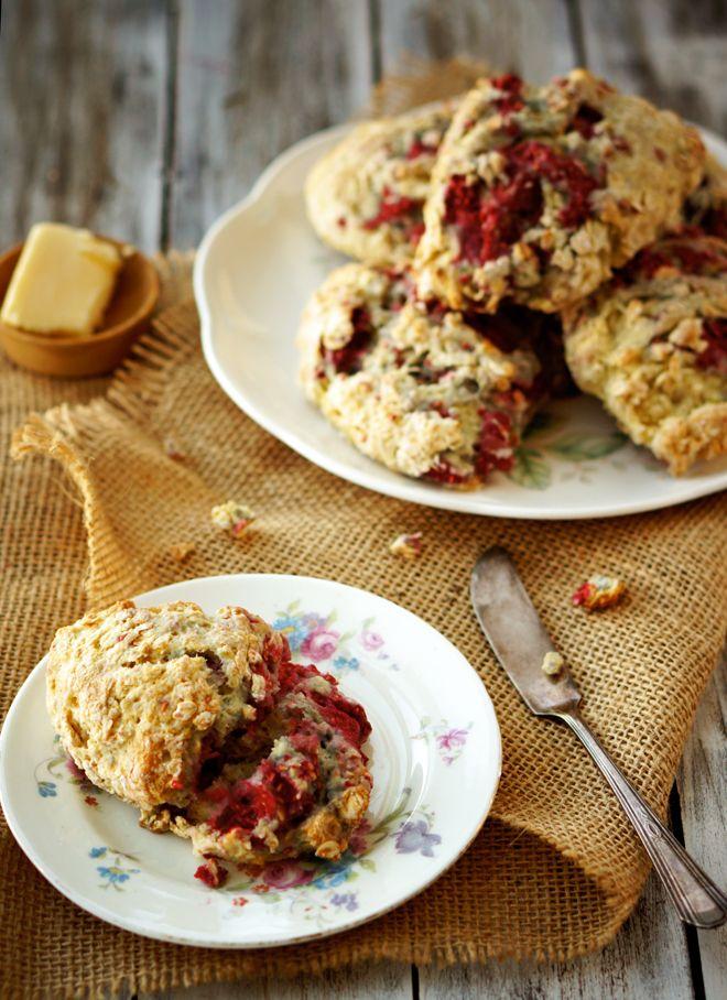 Raspberry-Oatmeal-Scones