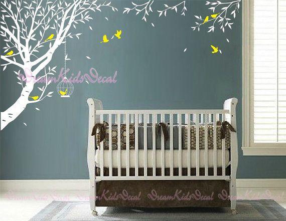 wandtattoo wand aufkleber baum wohnzimmer wand von. Black Bedroom Furniture Sets. Home Design Ideas