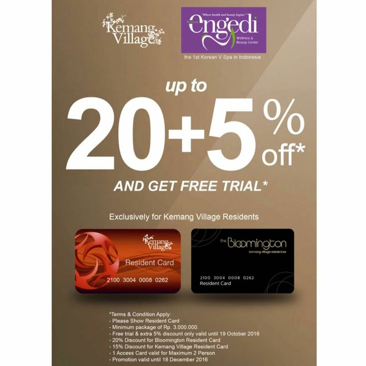 Exclusively for residents. Enjoy Engedi Spa and treatment this weekend and take up this special offer #kemangvillage #kemang #lippomallkemang #spa