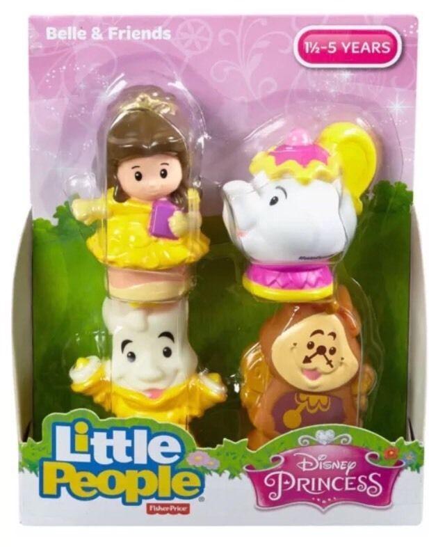 Little People Fairy Treehouse Part - 25: Fisher Price Little People 4 Pack Belle U0026 Friends , Disney Princess   EBay