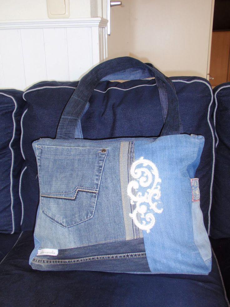 **alles-vanellis: Tas van oude spijkerbroeken, Denim tas