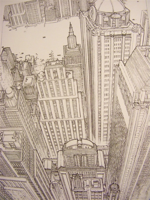 This is a great show of 3 point perspective the depth is fantastic and the you of 3D sublime it make me feel like I'm in a plane looking down at this city.