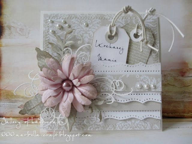 Gallery of handicrafts: Pastelowy róż - Kochanej Mamie