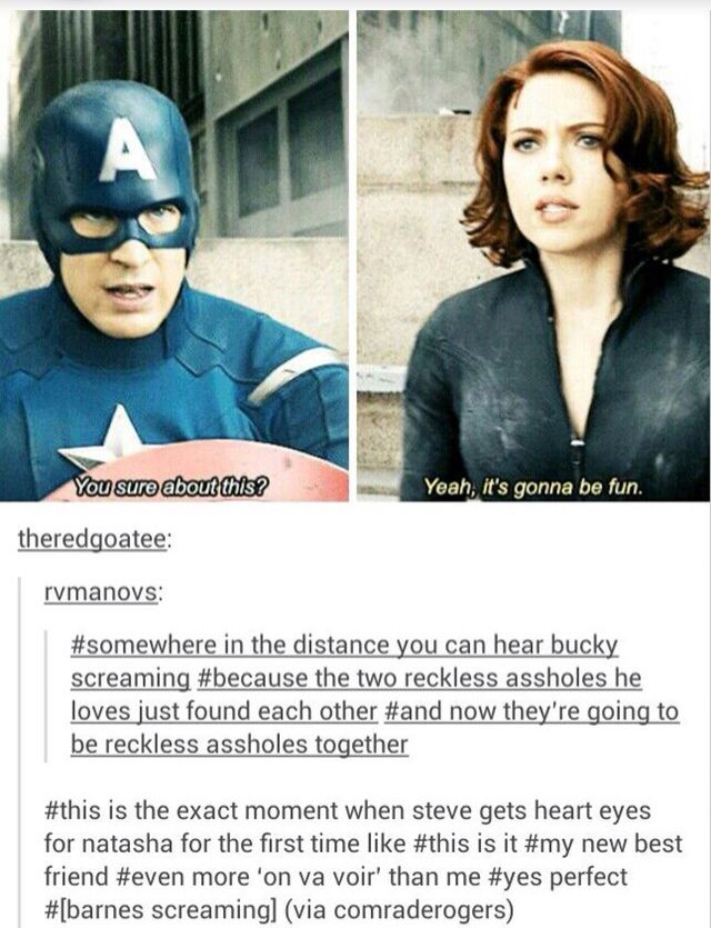 Steve and Natasha's friendship is bae