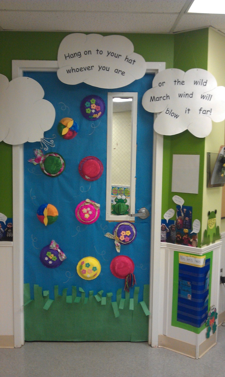 Classroom Decorations For March ~ Best images about preschool door wall ideas on