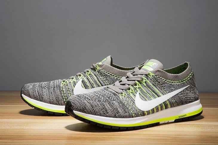 3143a94f531d Fashion Nike Men Air Zoom Flyknit Streak 6 Dark Gray Flash Lime White Air  Zoom Flyknit