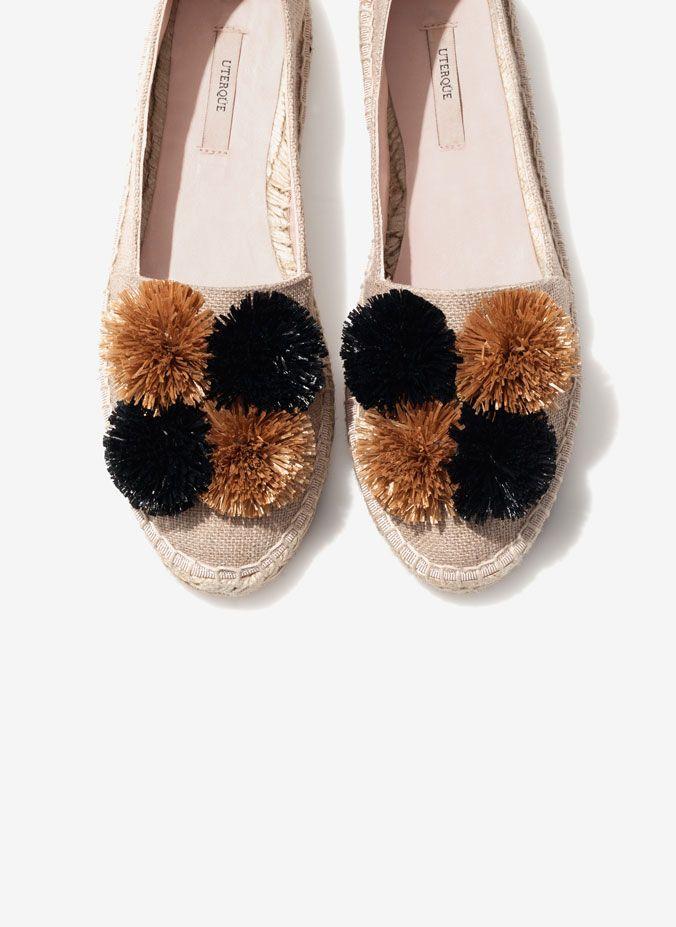 Pompom espadrilles - View all - Footwear - Uterqüe United Kingdom