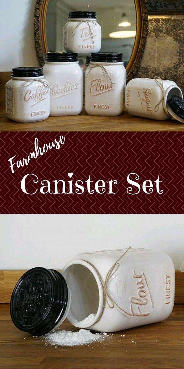 best 25 tea coffee sugar canisters ideas on pinterest. Black Bedroom Furniture Sets. Home Design Ideas
