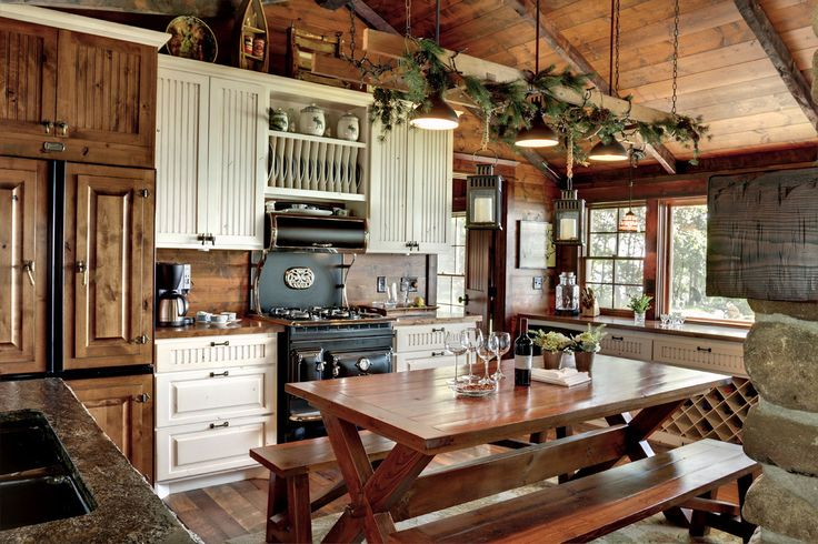 cabin cabinets kitchen best 25 rustic cabin kitchens ideas on log 1903