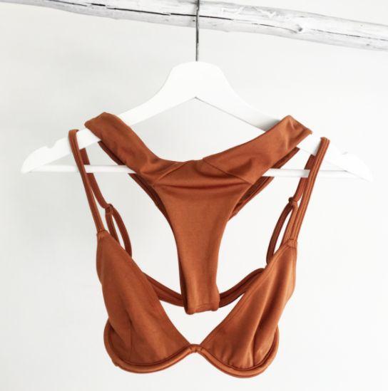 #orange #burnt #swimwear #bikini #laux #bottoms #top #summer #hot #lahana