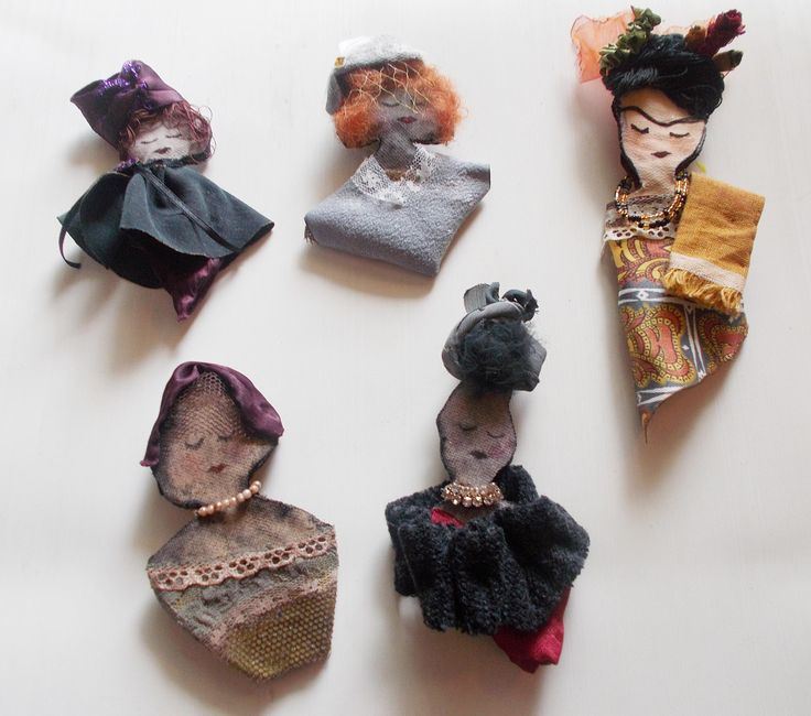 handmade brooches with ladies, each of them as unique as you are! by mademeathens  #brooches #handmade #frida #ladies $30 per item