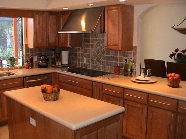 Painting Maple Cabinets Maple Kitchen With Corian® Aurora Countertops « Beverin