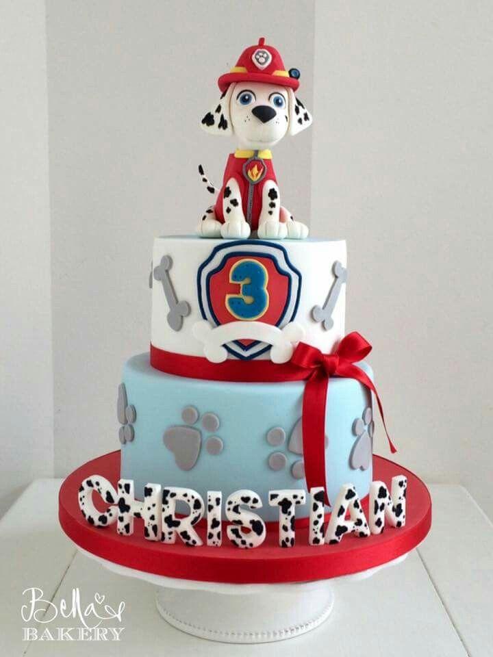 Paw Patrols cake …                                                       …
