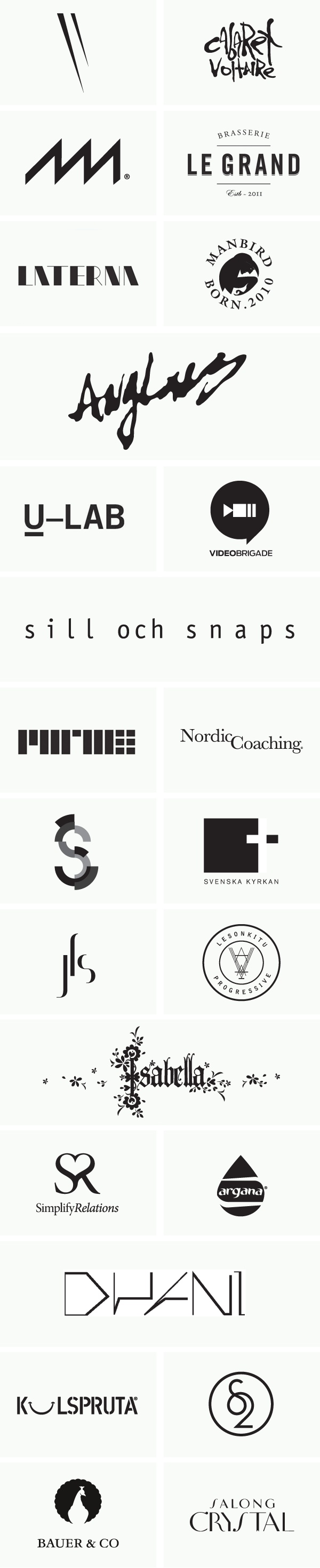 || Various logotypes :: by Acid and Marble :: via Behance