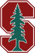 The Stanford Cardinal is the nickname of the athletic teams at Stanford University. Stanford has no official mascot, but the Stanford Tree, a member of the Stanford Band wearing a self-designed tree costume, appears at major Stanford sports events. The Tree is based upon El Palo Alto, a redwood tree in neighboring Palo Alto that appears in the Stanford seal and athletics logo.