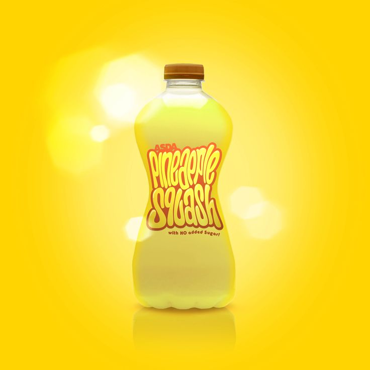 Squash. Packaging. Fruit juice. Typography. hand drawn lettering. Pineapple. Designed by White is Black.