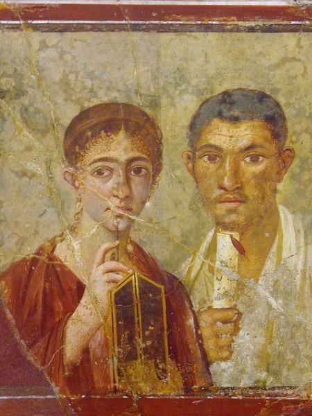 Terenzio Neo e la moglie I sec d.C. Affresco Ritrovato a Pompei e ora conservato a al museo archeologico nazionale di Napoli