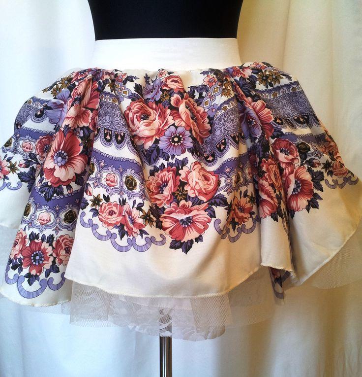 Beautifuly made by talented needlewoman Slavic skirt. Folk patterned buffy and romantic. Summer!
