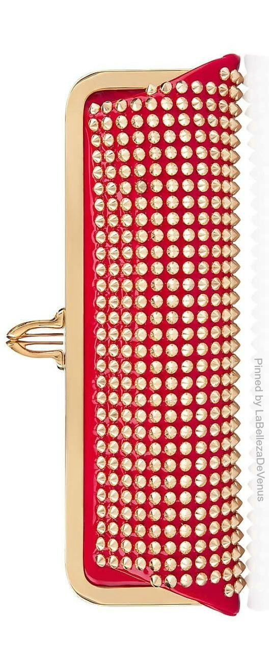 Louboutin Spiked Clutch | LBV ♥✤