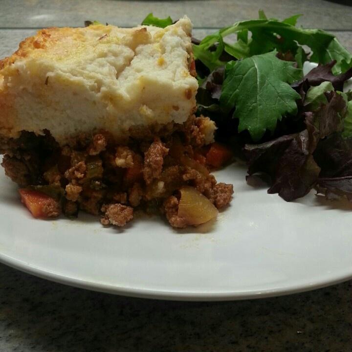 Shepherd's Pie w Cauliflower Mash.
