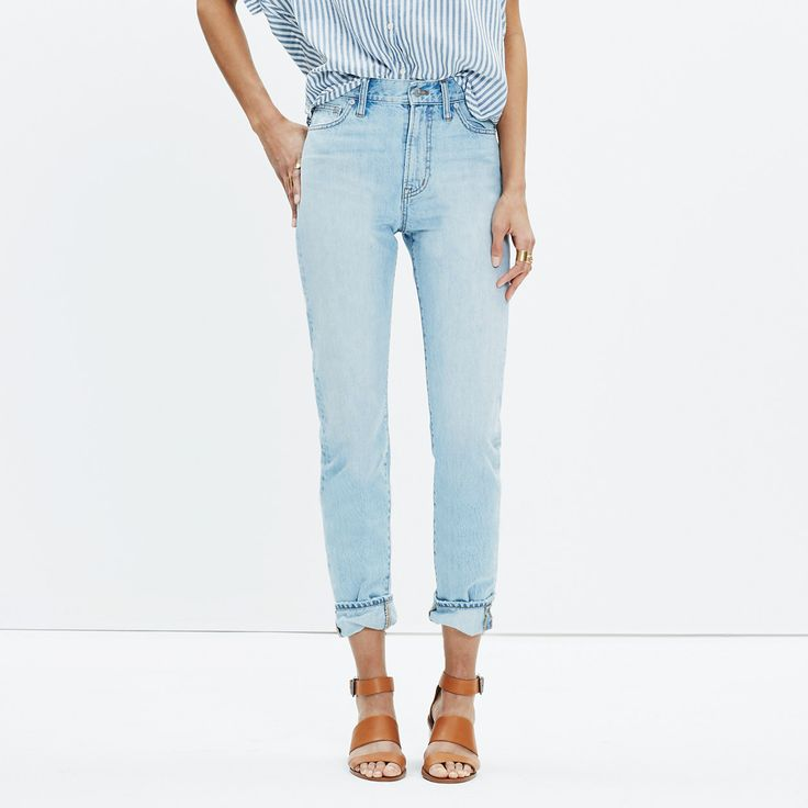 The Perfect Summer Jean in Fitzgerald Wash : crop straight & demi boot jeans | Madewell