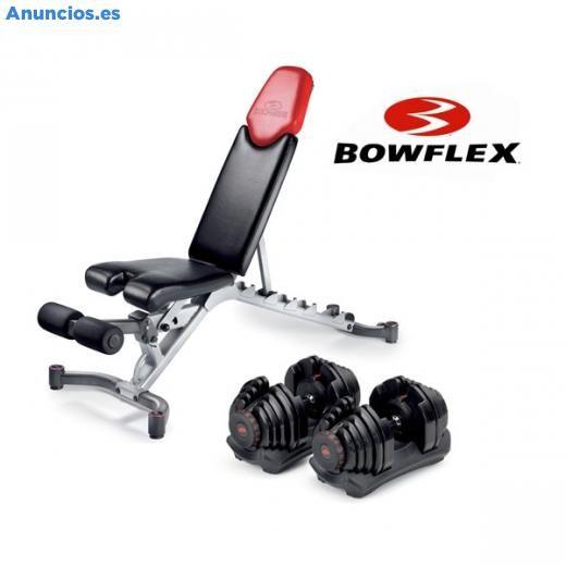 Pack Bowflex , Juego De Mancuernas + Banco Bowflex 5.1 - Musculación en Madrid.