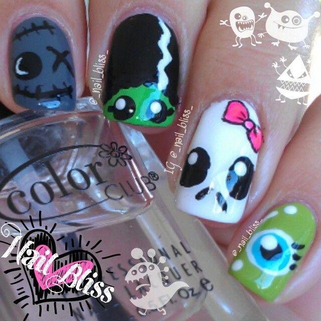 halloween by _nail_bliss_  #nail #nails #nailart