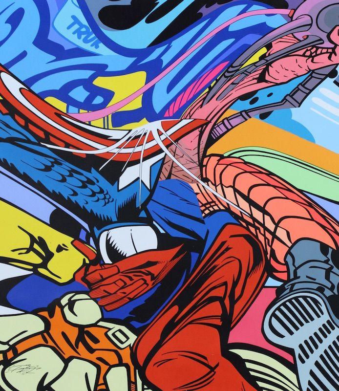 PRO176 - RUGGED PSYCH GOLEM - GALERIE ZIMMERLING & JUNGFLEISCH http://www.widewalls.ch/artwork/pro176/rugged-psych-golem/ #Painting