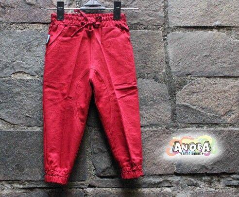 Red jogger pants #pants #babypants