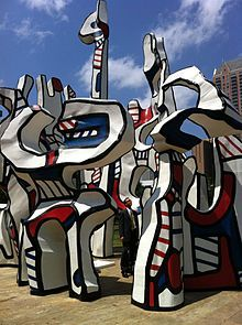 "Ciclo de L'Hourloupe ""Monument au fantôme"" 1983, Interfirst Plaza, Houston, Texas (U.S.A.) Jean Dubuffet"