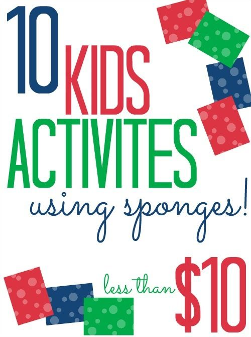 10 Kids Activities Using Sponges