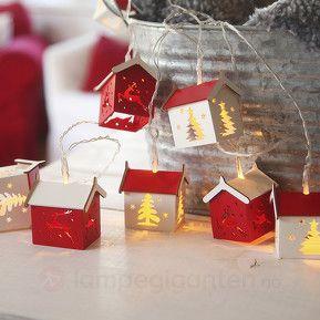 Houses – en batteridrevet lyslenke. Velkommen jul :)