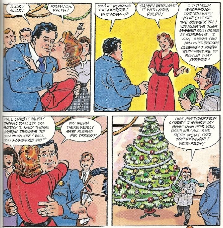 Honeymooners Colorized Christmas | POW! RIGHT IN THE CHRISTMAS KISSER! – The Honeymooners #3 | blog ...