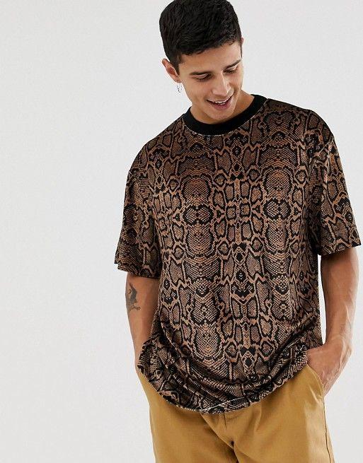d14211c7 COLLUSION velvet snake print t-shirt in 2019 | Gentlemen Styles ...