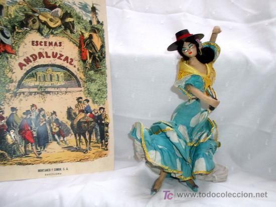 muñeca layna flamenca typical spanish años 40-50