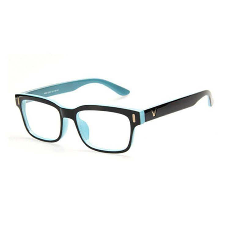 High-grade V-Shaped Box Eyeglasses Frame Brand For Women Fashion Men Optical eye glasses Frame Eyewear Oculos De Grau Armacao