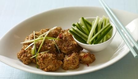 Chicken satay is a party favourite, thread the chicken pieces onto soaked bamboo…