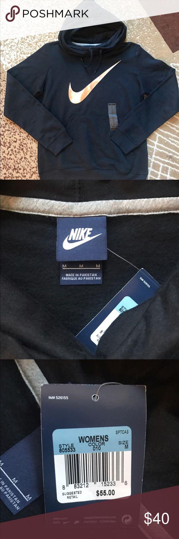 Nike! Brand new black and rose gold women's hoodie! Nike Sweaters Cowl & Turtlenecks