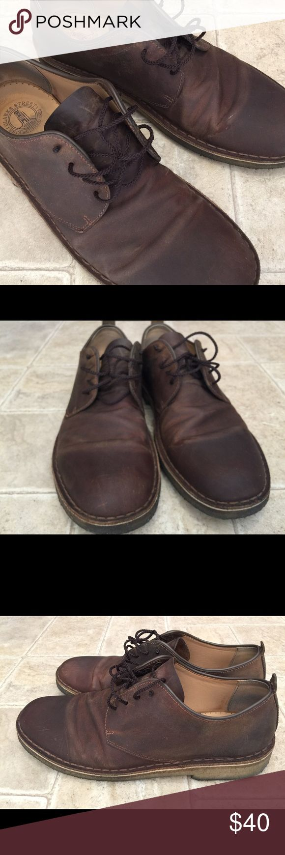 Clark's desert London Beeswax Leather. Size 11 D Clark's desert London beeswax leather men's shoes size 11. Lightly used and well cared for. Clarks Shoes Oxfords & Derbys