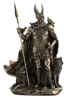 ODIN Norse Mythology Viking God Deity Statue