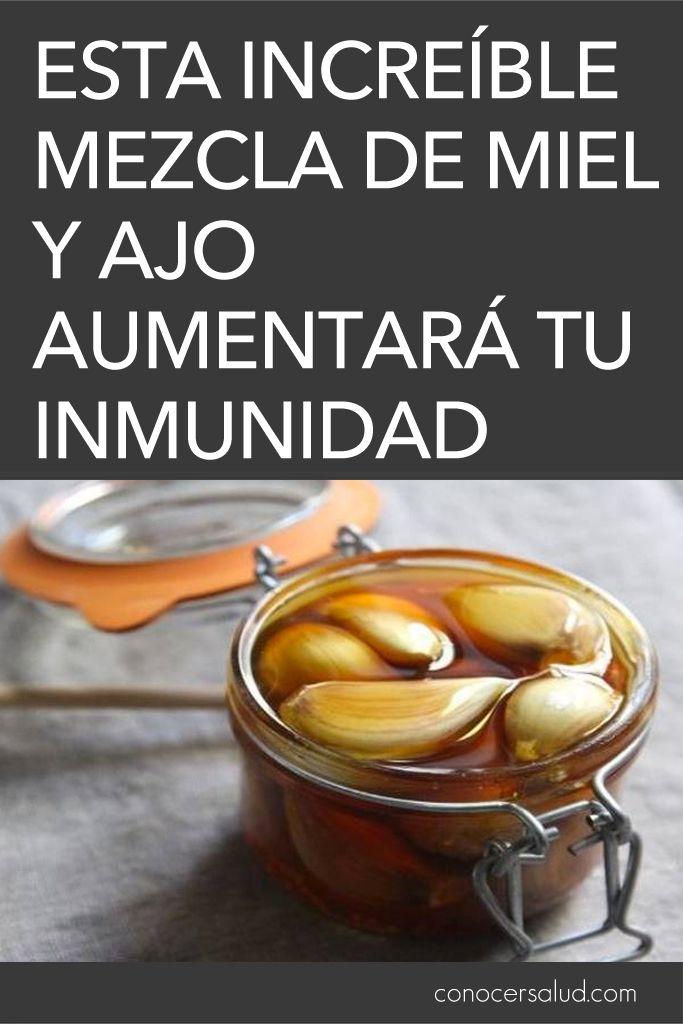 Esta increíble mezcla de miel y ajo aumentará tu inmunidad #salud