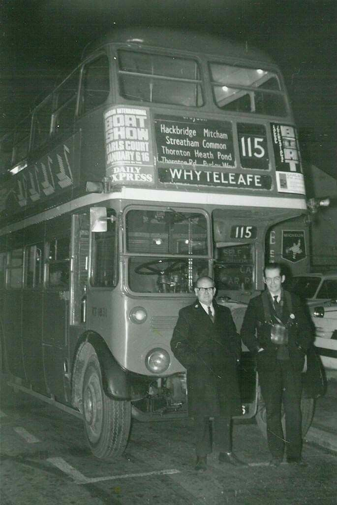 The RT bus was the bus of my childhood - the predecessor of the Routemaster which was introduced in 1954. Here with the driver and the conductor. The bus had preselector gearboxes and as children we liked to sit in the front offside seat downstairs where you could see into the drivers cabin. Upstairs was for smokers and in the 1950s that meant a lot of the passengers and in the winter a terrible unhealthy fug. No standing was allowed upstairs.